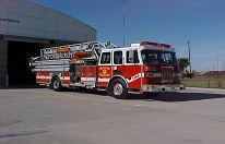 Picture of aerial truck, Quint # 130