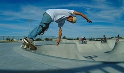 Scott - Skateboarder photo in Corpus Christi skate bowl