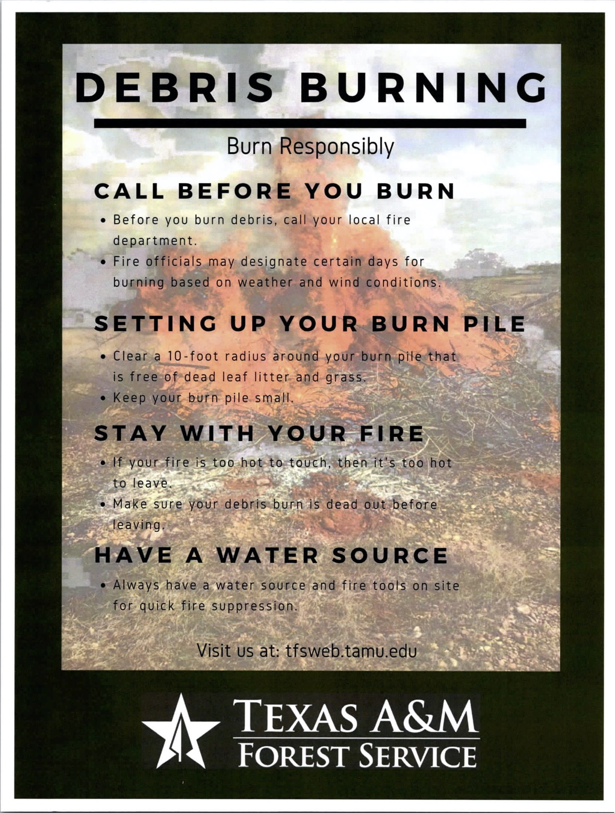 Don't Burn Debris